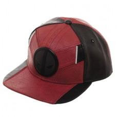 DEADPOOL INSPIRED METAL EMBLEM SNAPBACK CAP