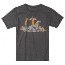 TRANSFORMERS DINOBOTS CHARCOAL T/S LG