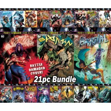 DC BATTLE DAMAGE THEME ASSORTED COVERS 21 PC BUNDLE @A
