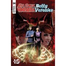 RED SONJA VAMPIRELLA BETTY VERONICA #4 CVR E STAGGS
