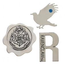 HARRY POTTER HOGWARTS HOUSE RAVENCLAW 3PC LAPEL PIN SET (C: @U