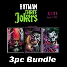 BATMAN THREE JOKERS #1 PREMIUM VAR A B C 3PC BUNDLE
