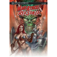 MARS ATTACKS RED SONJA #1 LAYMAN SGN ATLAS ED