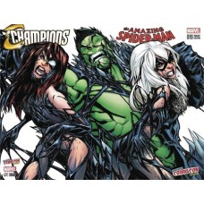 DF CHAMPIONS #1 AMAZING SPIDER-MAN #19 RAMOS B&W SET