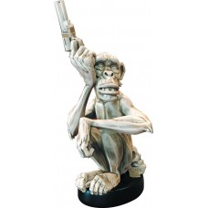 MIKE MIGNOLA MONKEY WITH A GUN BONE STATUE (Net)