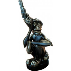 MIKE MIGNOLA MONKEY WITH A GUN BRONZE STATUE (Net)