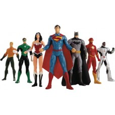 NEW 52 JUSTICE LEAGUE 8IN BENDABLE FIGURE BOX SET (Net)