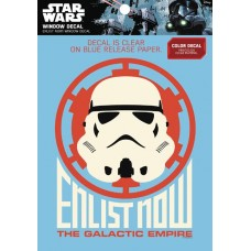 STAR WARS STORMTROOPER ENLIST NOW WINDOW DECAL