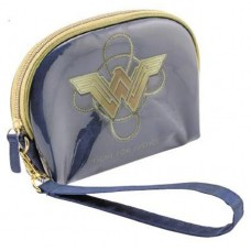 DC WONDER WOMAN BLUE WRISTLET COSMETIC CASE