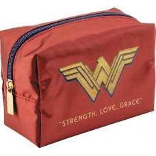 DC WONDER WOMAN RED SQUARE COSMETIC CASE