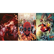 ASM #800 DEADPOOL #300 IRON MAN #600 REG COVER BUNDLE SET