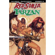 RED SONJA TARZAN #1 CVR A HUGHES