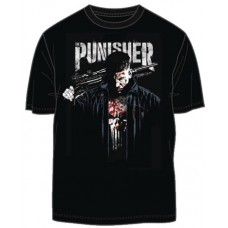 MARVEL NETFLIX PUNISHER POSTER PX BLACK T/S LG
