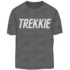 STAR TREK TREKKIE PX CHARCOAL BLACK T/S MED