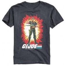 GI JOE A REAL AMERICAN HERO VINTAGE BLACK T/S MED