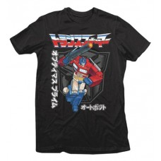 TRANSFORMERS JAPANESE TEXT BLACK T/S XL