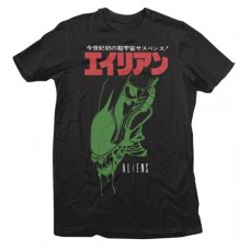 ALIENS JAPANESE TEXT BLACK T/S MED