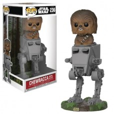 POP DELUXE STAR WARS AT-ST W/CHEWBACCA VINYL FIG