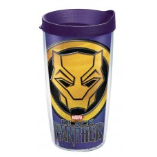 MARVEL BLACK PANTHER 16OZ TUMBLER W/ PURPLE LID