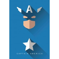 MARVEL CAPTAIN AMERICA HIGH GLOSS CANVAS PRINT