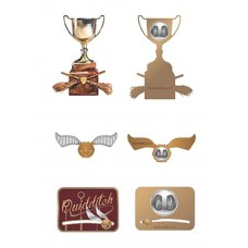 HARRY POTTER QUIDDITCH 3PC LAPEL PIN SET