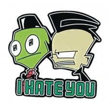 INVADER ZIM I HATE YOU LAPEL PIN