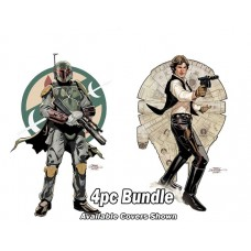 STAR WARS AGE OF REBELLION #1 BOBA HAN JABBA LANDO 4PC REG BUNDLE