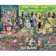 RICK & MORTY #50 ABC + #1 - #5 SPECIAL CONNECTING 8PC BUNDLE