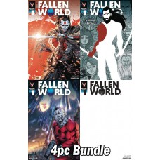 FALLEN WORLD #1 (OF 5) CVR A B C E VARIANT 4PC BUNDLE
