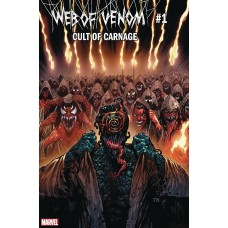 DF WEB OF VENOM CULT OF CARNAGE #1 RED SGN TIERI