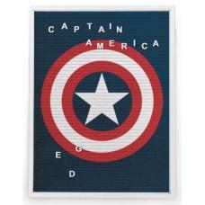 MARVEL CAPTAIN AMERICA 13X17.5 IN FELT LETTER BOARD WALL ART