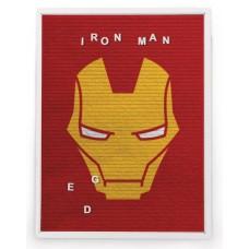 MARVEL IRON MAN 13X17.5 IN FELT LETTER BOARD WALL ART