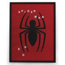 MARVEL SPIDER-MAN 13X17.5 IN FELT LETTER BOARD WALL ART