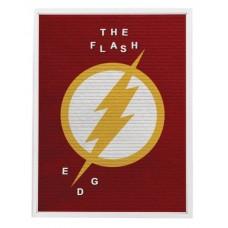 DC HEROES FLASH 13X17.5 IN FELT LETTER BOARD WALL ART
