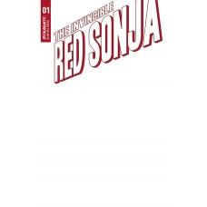 INVINCIBLE RED SONJA #1 CVR F BLANK AUTHENTIX