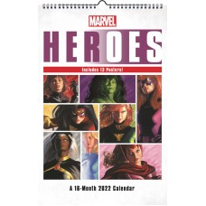 MARVEL HEROES 2022 OVERSIZED POSTER WALL CAL (C: 1-1-1)