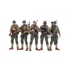 JOY TOY WWII US ARMY 1/18 FIGURE 5PK (Net) (C: 0-1-2)