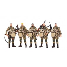 JOY TOY WWII US ARMY AIRBORNE DIVISION 1/18 FIGURE 5PK (Net)