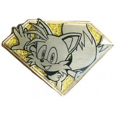 SONIC THE HEDGEHOG GOLDEN TAILS EMERALD PIN (C: 1-1-2)