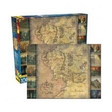 AQUARIUS LORD OF THE RINGS MAP 100PC PUZZLE (C: 1-1-2)