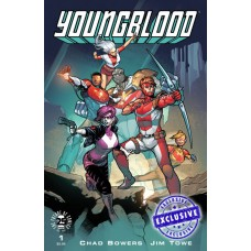 YOUNGBLOOD #1 M&M EXCLUSIVE JIM TOWE VARIANT LTD 500