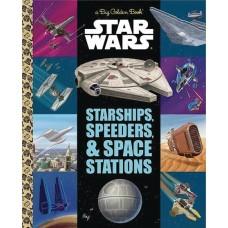 STAR WARS BIG GOLDEN BOOK STARSHIPS SPEEDERS SPACE STATIONS