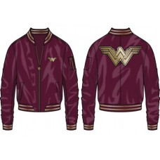 WONDER WOMAN MOVIE LOGO BOMBER JACKET XL