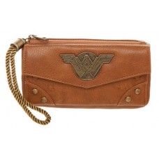 WONDER WOMAN MOVIE JRS TOP ZIP CLUTCH WALLET