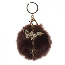 WONDER WOMAN MOVIE FURRY POM POM KEYCHAIN CHARM