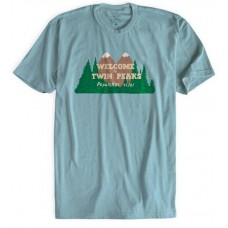 TWIN PEAKS WELCOME TO TWIN PEAKS LIGHT BLUE T/S LG