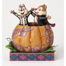 DISNEY TRADITIONS CHIP & DALE IN PUMPKIN FIG