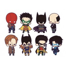 DC UNIVERSE BATMAN FAMILY 8PC BMB RUBBER CHARM DIS