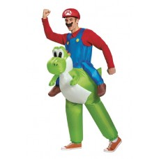NINTENDO MARIO AND YOSHI ADULT INFLATABLE COSTUME