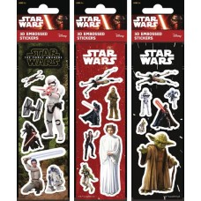 STAR WARS 3D STICKER SHEET 150CT DISPLAY